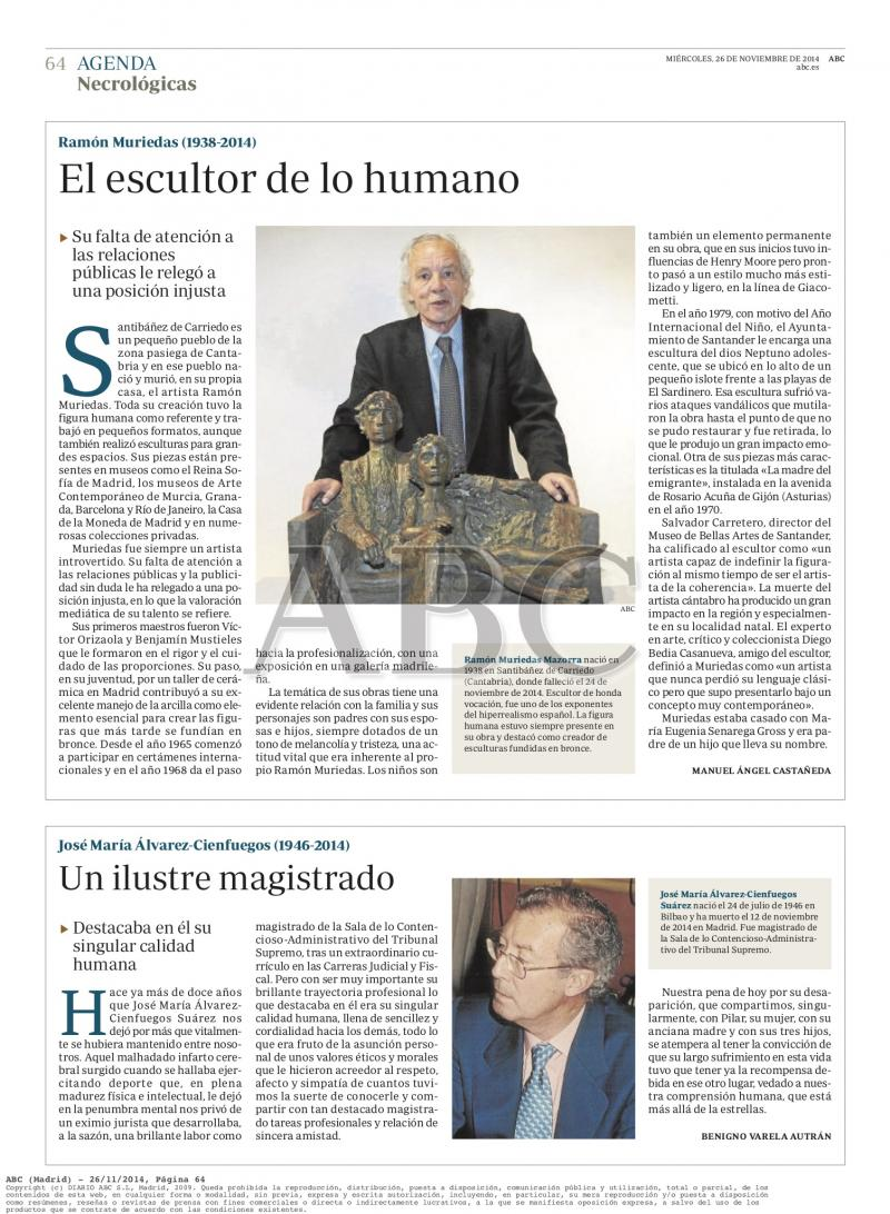 "ABC. Madrid. "" El escultor de lo humano"""