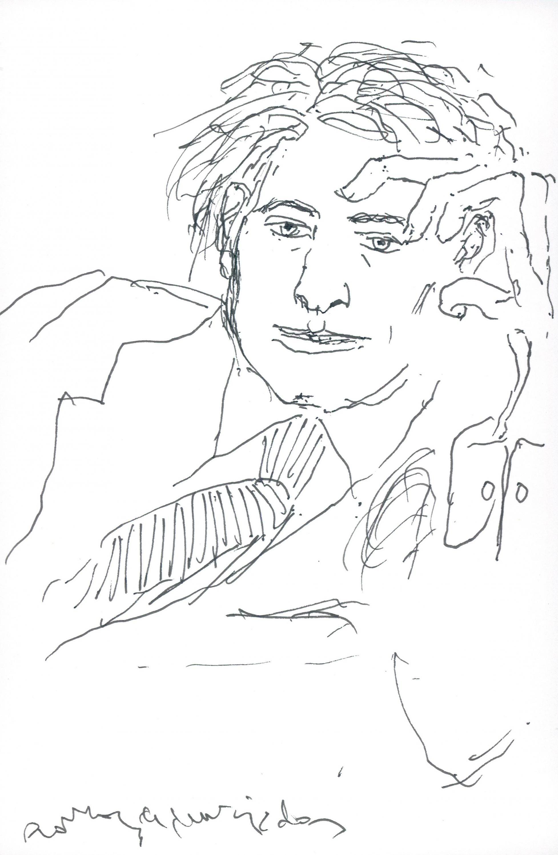 Dibujo Hombre pensativo