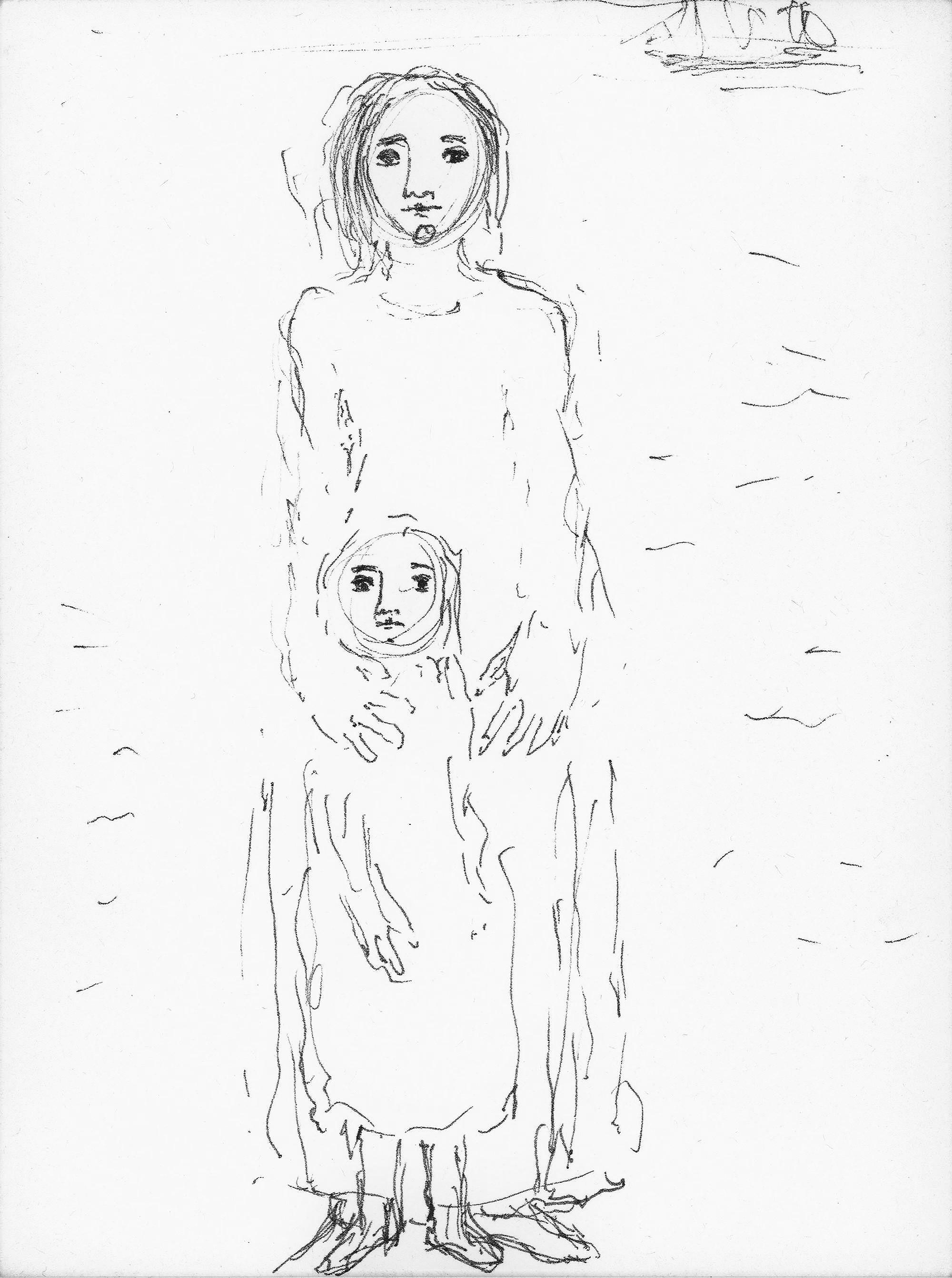 Maternidad de pie