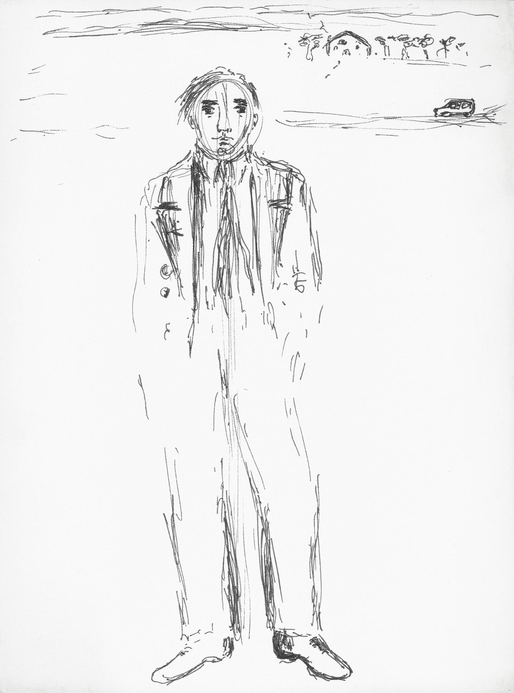 Bocetos Hombre sólo de pie